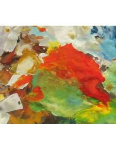 Tytuł: Pomarańczowa abstrakcja, Autor: Emilia Czupryńska