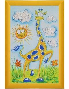 Tytuł: zabawna żyrafa, obrazek do pokoju dziecka, Autor: Emilia Czupryńska