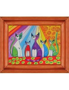 Tytuł: Kolorowe koty dla dzieci, Autor: Emilia Czupryńska