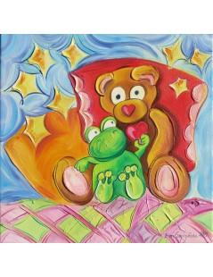 Tytuł: Misiek z sercem i żabką, Autor: Emilia Czupryńska