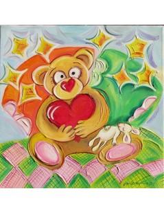 Tytuł: Misiak z sercem i myszką, Autor: Emilia Czupryńska
