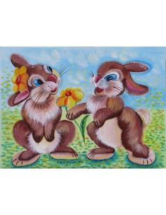 Tytuł: Dwa króliki, Autor: Emilia Czupryńska