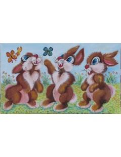 Tytuł: Trzy króliki, Autor: Emilia Czupryńska
