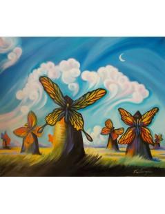 Tytuł: Wiatraki i motyle - Dali, Kusch, Autor: Emilia Czupryńska