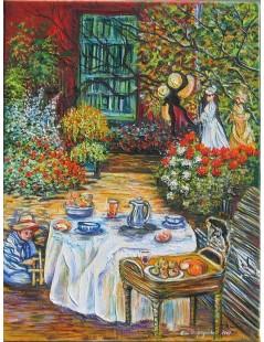 Tytuł: Śniadanie, Autor: Claude Monet