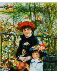 Tytuł: Na tarasie, Autor: Pierre Auguste Renoir