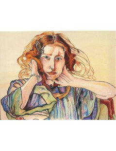 Tytuł: Portret Ireny Solskiej, Autor: Stanisław Wyspiański