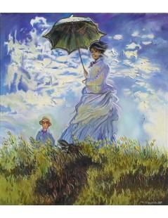 Kobieta z parasolką i dzieckiem
