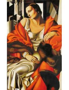 Tytuł: Portret pani Boucard, Autor: Tamara de Lempicka