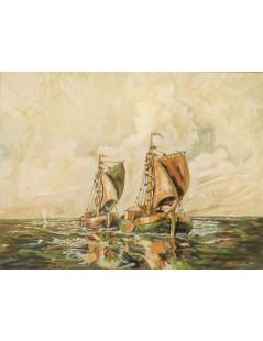 Tytuł: Dwa żagle, Autor: Rudolf Priebe