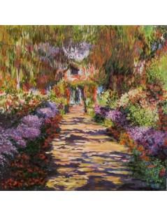 Tytuł: Droga przez ogród, Autor: Claude Monet