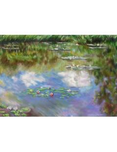 Tytuł: Lilie wodne, Autor: Claude Monet