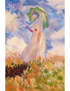 Tytuł: Pani z parasolką, Autor: Claude Monet