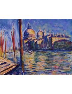 Tytuł: Wielki kanał w wenecji, Autor: Claude Monet