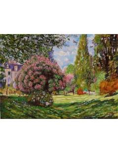 Tytuł: II Parco Monceau Monet, Autor: Claude Monet