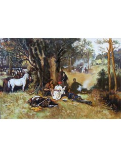 Tytuł: Obóz powstańców, Autor: Tadeusz Ajdukiewicz