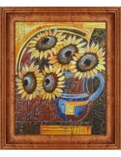 Tytuł: Złote słoneczniki, Autor: Emilia Czupryńska