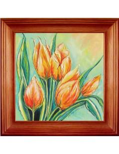 Tytuł: Tulipany żółto-czerwone, Autor: Emilia Czupryńska