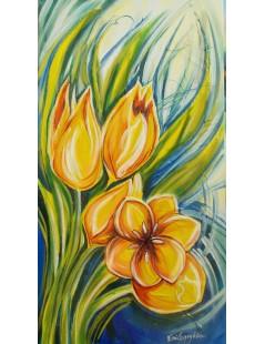 Tulipany żółto-czerwone