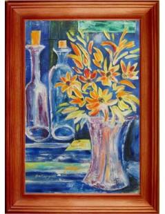 Kwiaty i butelki