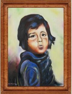 Tytuł: Dziecko we łzach, portret, Autor: Emilia Czupryńska