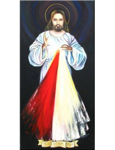 Tytuł: Jezus Miłosierny, Autor: Emilia Czupryńska