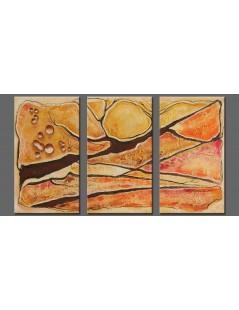 Tytuł: Tryptyk abstrakcja Szczeliniec, Autor: Emilia Czupryńska