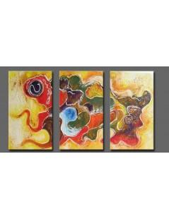 Tryptyk abstrakcja fantazja