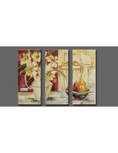 Tytuł: Tryptyk Tulipany i gruszki, Autor: Emilia Czupryńska