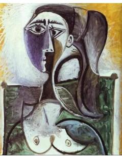 Tytuł: Portret siedzącej kobiety, Autor: Pablo Picasso