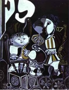 Tytuł: Paloma i Claude, dzieci Picasso, Autor: Pablo Picasso