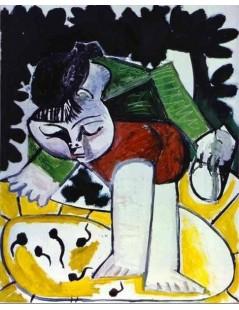 Tytuł: Paloma bawiąca się kijankami, Autor: Pablo Picasso