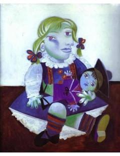 Tytuł: Maja z lalką, Autor: Pablo Picasso
