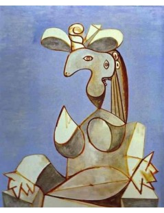 Tytuł: Young Tormented Girl, Autor: Pablo Picasso