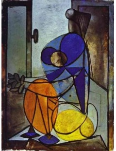 Tytuł: Młoda dziewczyna w fotelu, Autor: Pablo Picasso