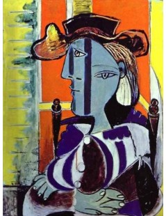Tytuł: Portret Marie-Therese Walter V, 1937r., Autor: Pablo Picasso