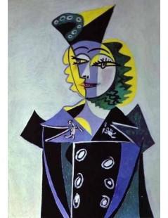 Tytuł: Nusch Eluard - portret, 1937r., Autor: Pablo Picasso