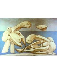 Tytuł: Bracia z  łódką do zabawy, Autor: Pablo Picasso