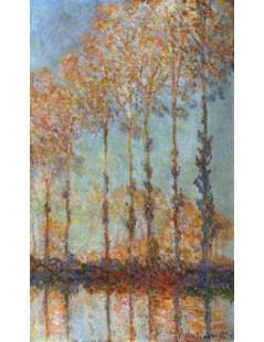 Tytuł: Topole nad Epte, Autor: Claude Monet