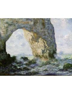 Tytuł: Skalny łuk w Etretat, Autor: Claude Monet