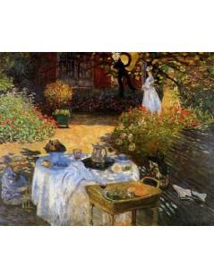 Tytuł: Śniadanie w ogrodzie, Autor: Claude Monet