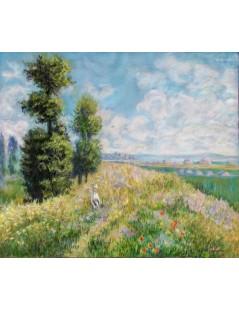 Tytuł: Łąka i topole, Autor: Claude Monet