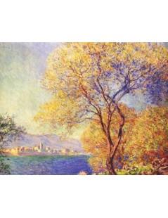 Tytuł: Widok Antibes z ogrodu w Salis, Autor: Claude Monet