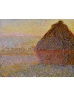 Tytuł: Stóg o zachodzie słońca, Autor: Claude Monet