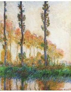 Trzy drzewa jesienią