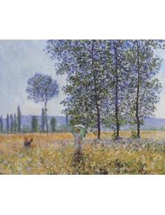Tytuł: Kobieta pod topolami, Autor: Claude Monet