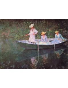 Tytuł: Trzy kobiety w łodzi, Autor: Claude Monet