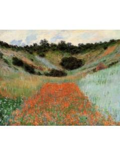 Tytuł: Maki w kotlinie niedaleko Giverny, Autor: Claude Monet
