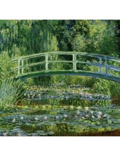 Japoński mostek, lilie wodne