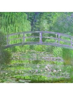 Japoński mostek, lilie wodne symfonia zielona